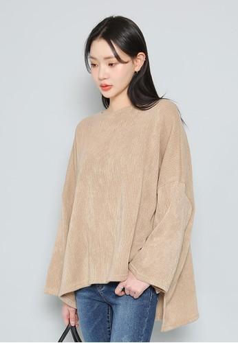 不對稱下擺寬鬆T恤, 服飾,esprit香港分店 毛衣& 針織外套