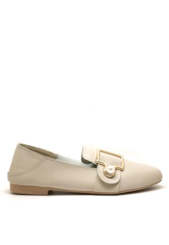 Twenty Eight Shoes 米褐色 小方頭珍珠鈕Loafers 1140-78 A0B60SH2DC2552GS_1