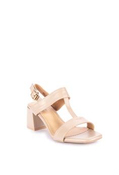 522561bb912 50% OFF Matthews Kelly T-Strap Heeled Sandals Php 1