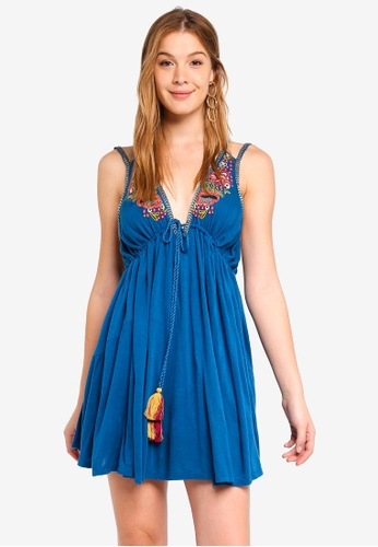 Free People blue Lover Cove Mini Dress FABAAAA29E4726GS_1