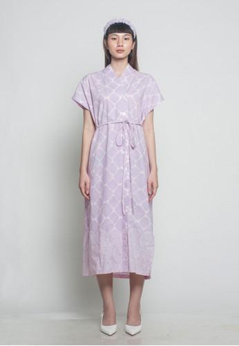 OEMAH ETNIK purple Lilac Setali Batik Dress 566DEAA603224FGS_1