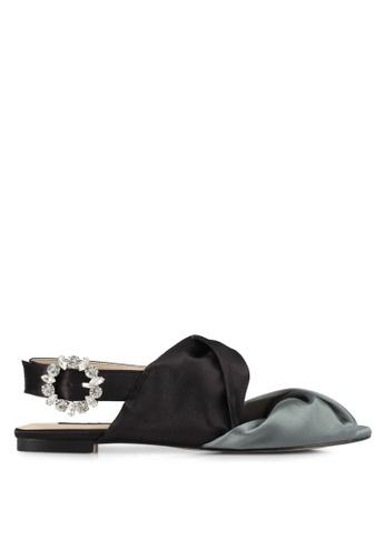 ZALORA black Satin Slingback Sandals 4CBF9SH717FD7FGS_1
