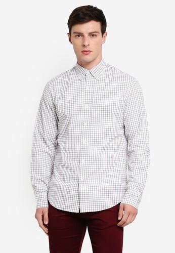 J.Crew white Slim Stretch Secret Wash Shirt In Tattersall CCB54AA5E38A38GS_1