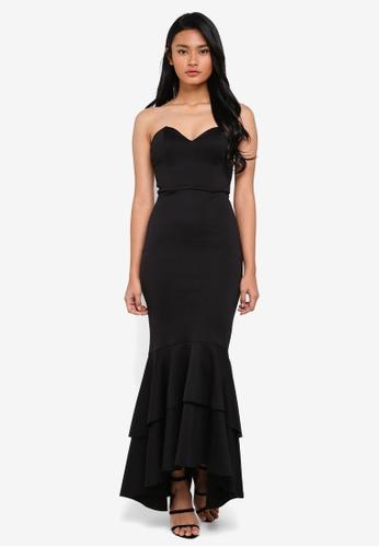 Miss Selfridge black Fishtail Prom Bodycon Dress 969E0AA07A2149GS_1