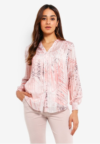d2409c044f4 Shop Wallis Petite Blush Snake Print Shirt Online on ZALORA Philippines