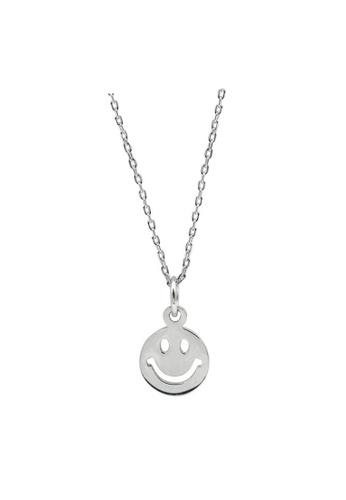LYCKA silver LDR1309 S925 Silver Smiley Face Necklace 3EBEDAC274D0E4GS_1