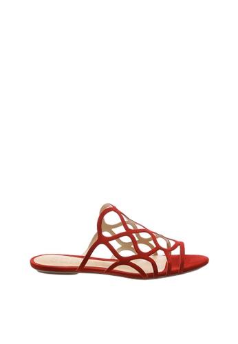 SCHUTZ 紅色 SCHUTZ 平底拖鞋 - PAGIE (紅色) F1B1CSH1DBA12EGS_1
