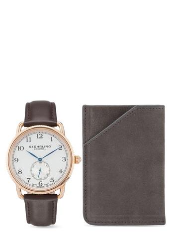 Stuhrling Original brown Stuhrling Watch Set 207.04.CH 1646FACC6BE753GS_1
