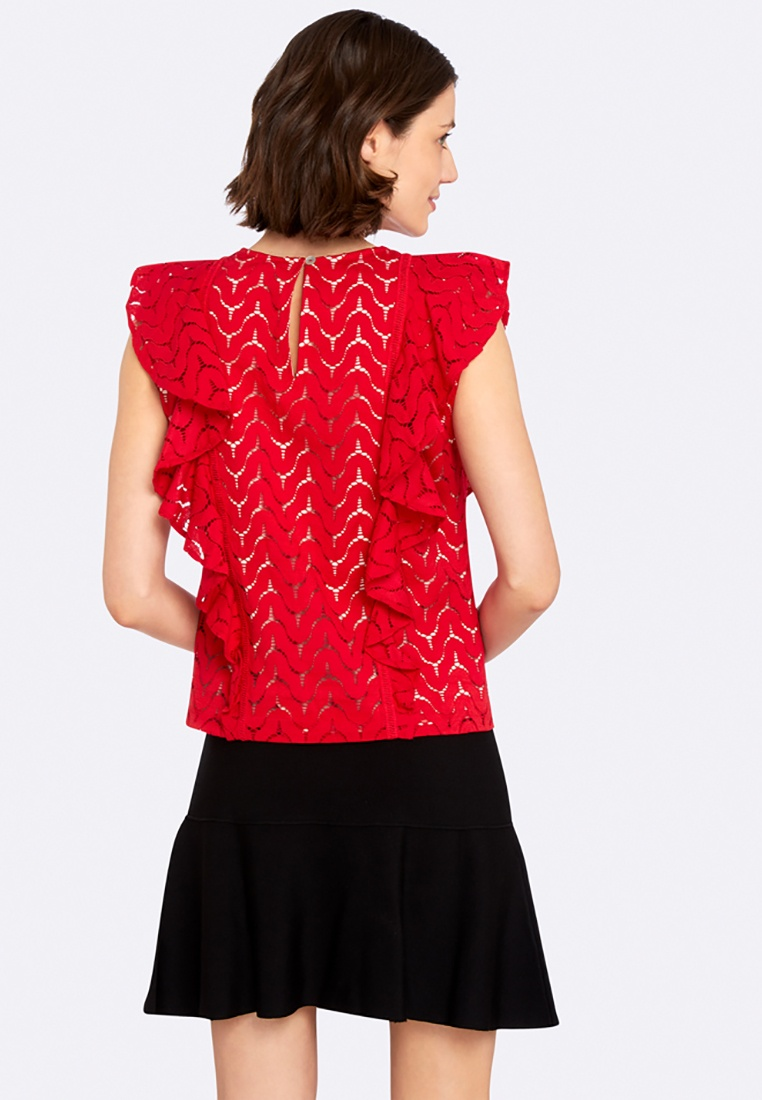 Red Indie Oxford Top Lace Oh Georgia Pvn8PqXHUW