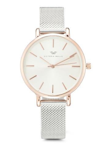 Victoria Walls Watches silver Designer Watch-Elegant Milanese Mesh Strap 13F5EAC9419F13GS_1