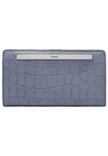 FOSSIL blue Liza Wallet SL6498550 6ECC7AC0BD7078GS_1