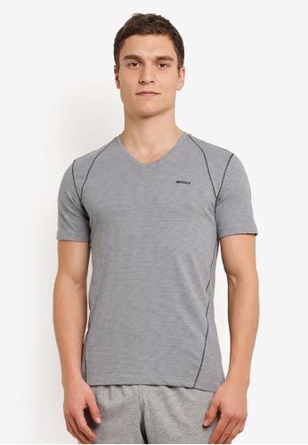 2GO grey V-Neck T-Shirt 2G729AA0S60UMY_1