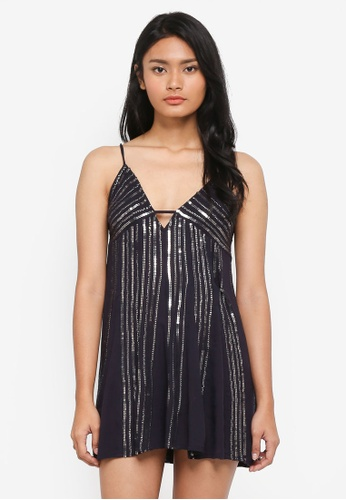 Free People black Here She Is Embellished Dress 686A0AAC0C2416GS_1
