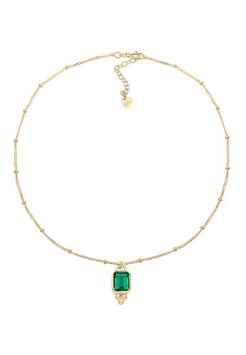 ELLI GERMANY gold Elli Germany Necklace Choker Ball Chain Quartz Gemstone 925 Silver Gold Plated F0875AC8BC6741GS_1