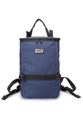 DUSTY blue Twin-Bucket backpack(L) CB7B2ACD796639GS_1