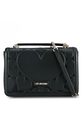 Love Moschino black Borsa Lamb Shoulder Bag LO478AC0SEIRMY_1
