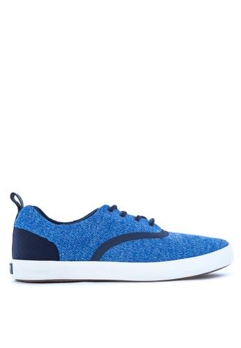 Sperry blue Flex Deck CVO Knit Sneakers SP132SH39CEIPH_1