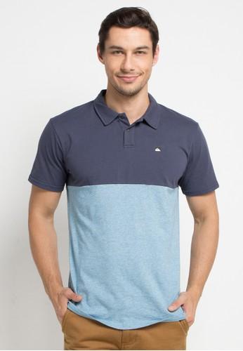 Quiksilver blue and multi Kuju Polo Shirt 2950EAA77D0266GS_1