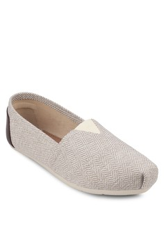 Weave Canvas Slip - Ons
