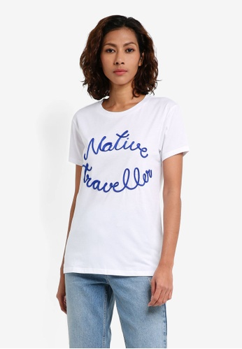 Mango white Embroidered Message T-Shirt 67F53AA45A5809GS_1