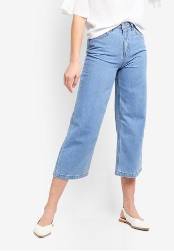 ZALORA blue Cullotte Jeans 57AFFAA5789F70GS_1
