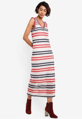 Mango white and multi Striped Jersey Dress MA193AA21BYGMY_1