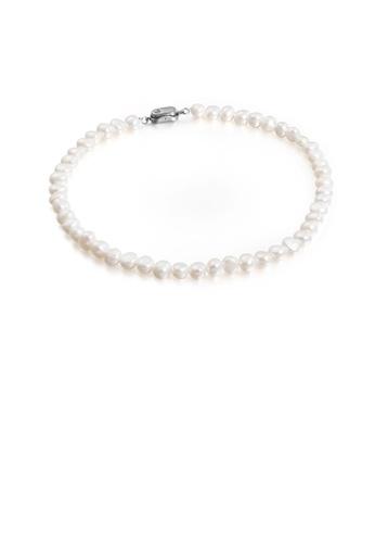 Glamorousky 銀色 時尚優雅仿珍珠串珠316L鋼項鏈 00823ACA2F6FA0GS_1