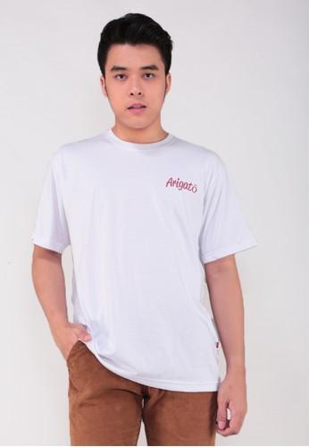 GatsuOne white Nakamori t-shirt 53DD6AAD75DBA0GS_1