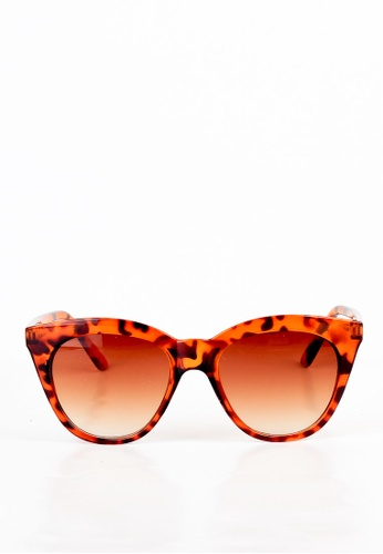 joystyx brown Jillian Sunnies in Leopard JO909AC18IVHPH_1