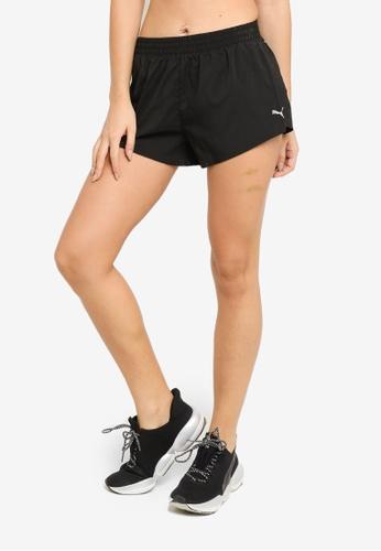 """Puma black Favourite Woven 3"""" Women's Running Shorts 8877EAA54CB1E1GS_1"""
