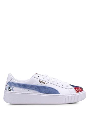 Puma white and multi Puma Platform Hyper Embroidered Shoes PU549SH0SWFKMY_1