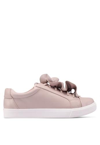 ONLY 粉紅色 褶飾運動鞋 579F3SH3D51168GS_1