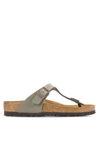 Birkenstock grey Gizeh Sandals BI090SH61HNIMY_1