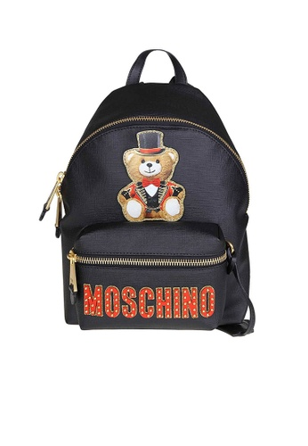 Moschino black Moschino Circus Teddy Backpack Black A7633 83F30AC58FB1F8GS_1