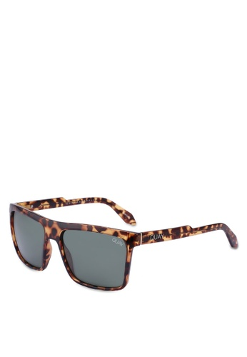 Quay Australia 褐色 LET IT RUN Sunglasses E0A2DGL65E75F2GS_1