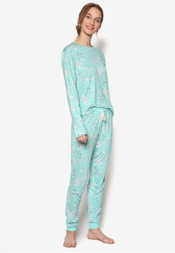 花卉長連身睡衣, 服飾, 睡衣套esprit outlet 香港裝