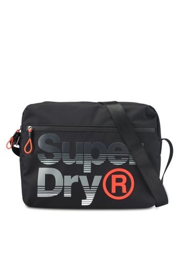 Superdry black Expander Lineman Messenger Bag B1862AC82DE03BGS_1