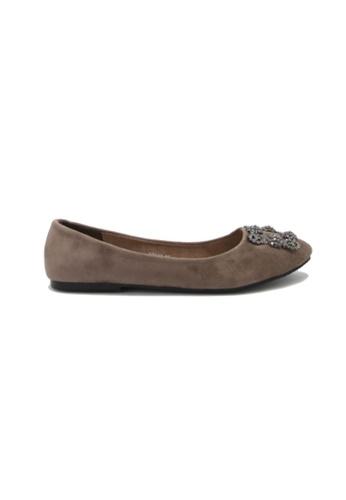 My Ballerine grey My Ballerine - Elegant comfort ballerina (Grey) 372A8SHFDC7157GS_1
