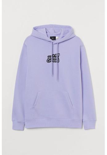 H&M purple Regular Fit Hoodie 20A7AAA256170AGS_1