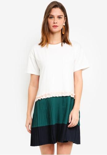 Haute Kelly white Whan Casual Pleated Dress 2BBB8AAA9C8C5FGS_1