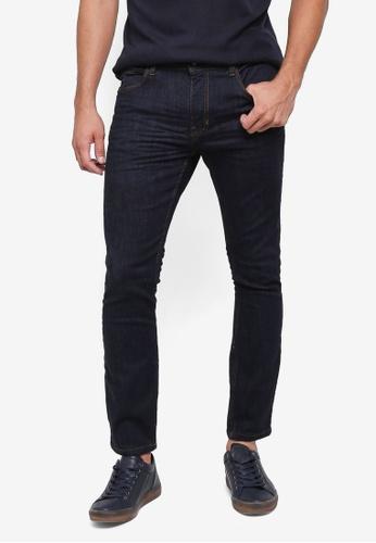 Burton Menswear London navy Dark Rinse Tyler Skinny Jeans FA956AA56BD99AGS_1