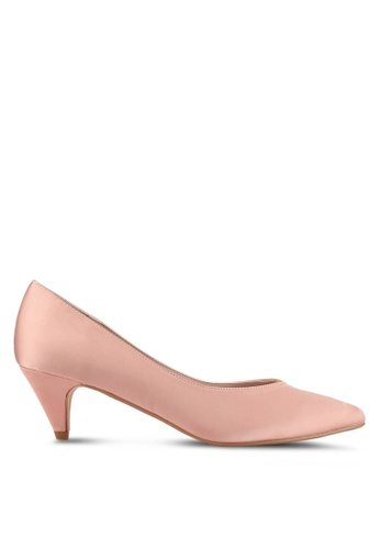 ZALORA 粉紅色 尖頭經典低跟鞋 C36CFSH2DBEEAEGS_1