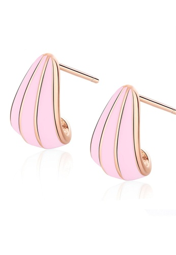 LYCKA pink LFF5230-LYCKA-S925 Siliver Epoxy Earrings-Pink FD487ACFF853AAGS_1
