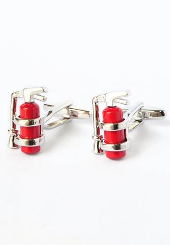 Splice Cufflinks red Fire Extinguisher Cufflinks SP744AC65CQSSG_1
