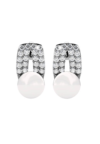 Her Jewellery silver Pearlie Earrings - Licensed Genuine Crystals from Swarovski® HE581AC0RBBEMY_1