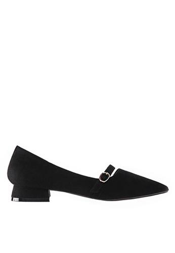 Twenty Eight Shoes 黑色 優質絨布尖頭鞋903-1 532DDSHA4F45ADGS_1