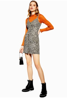 175d4df58f TOPSHOP Snake Print Denim Bodycon Dress RM 219.00. Sizes 6 8 10 14