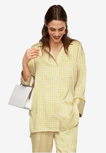 MANGO yellow Printed Pyjama-Style Shirt 81CA4AAEEF40C0GS_1