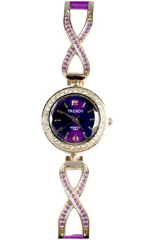Trendy Ladies Watch with Stainless and Silicone Strap