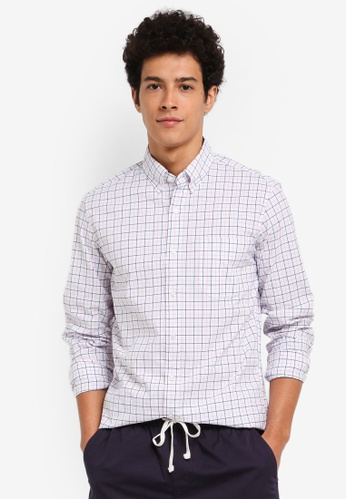 J.Crew pink Men's Slim Stretch Washed Meyers Check 99171AA3BF4F2AGS_1